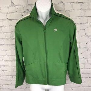 Nike Men's Sportswear Green/White Zip-Up Jacket